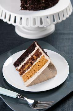 Butterscotch Pumpkin Chocolate Cake Oh sweet baby jesus. Cupcakes, Cupcake Cakes, Chocolate Pumpkin Cake, Pumpkin Dessert, Just Desserts, Delicious Desserts, Yummy Food, Sweet Recipes, Cake Recipes