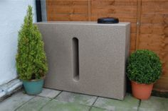 Ecosure Small 280 Litre Water Butt In Sandstone. Ideal for feeding your plants and easy storage. Comes with a screw down lid and bottom outlet. http://www.water-butt.com/acatalog/Water_Storage_Tank280_Litres_In_Sandstone.html