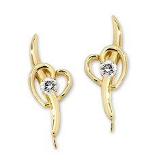 14k Yellow Gold 1/5ct. Twt. Diamond Shoot Thru My Heart Ear Pin Earrings #earpinearrings #sterlingsilverearpins #earringsthatgoup #pinearrings #earpinsjewelry #earpin #earpin #earspirals #earspirals #slideonearrings #climbtheearearrings #wrapearrings #nonpiercedearrings #earcuffs #personalizedbracelets #earcuffs #cuffearrings #cliponearrings #earspiralsearrings #earspiralearrings