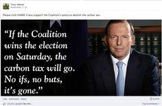 Tony Abbott carbon tax post