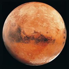 Mars is distinctive among the planets for its rusty red color.