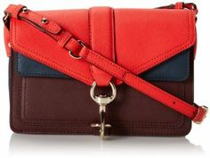 Rebecca Minkoff Saffiano Colorblock Hudson Moto Mini Cross Body Bag