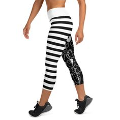This Midnight Hallowstripes Yoga Capri is one of the original designs of Vastitch. We want to give you the best, provide you the perfect design in achieving that summer bod. Shop more Yoga Pants, Capri, Leggings, and Shorts only at Vastitch! You Fitness, Fitness Goals, Yoga Capris, Fun Prints, Body Types, Confidence, Doodles, Yoga Gym, Workout