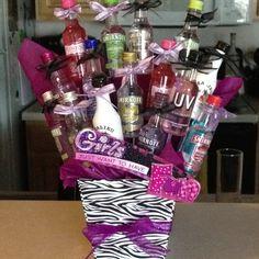 Bachelorette party bouquet!!!  Alcohol ain't just for the boys!