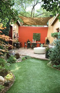 Now this outside living~ The sunshade is a great addition! Houzz.com