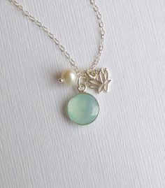 Sterling Silver Framed Sea Green by tinycottagetreasures on Etsy, $32.00