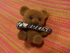 Boeing teddy bear pin