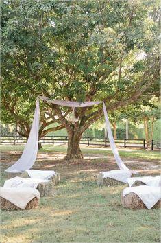 rustic outdoor wedding ceremony ideas #weddingceremony #outdoorwedding #weddingchicks http://www.weddingchicks.com/2014/04/07/rustic-lush-lavender-wedding/