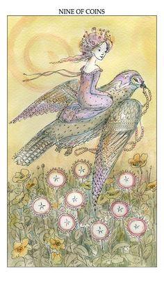 Nine of Coins - Prosperity, Joie de Vivre tarot by Paulina Cassidy