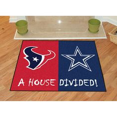 NFL House Divided - Falcons/Saints Rug, 34 x Black by Fanmats. NFL House Divided - Falcons/Saints Rug, 34 x Black. Texans Vs Cowboys, Texans Football, Nfl Houston Texans, Nfl Dallas Cowboys, Football Season, Football Baby, Baseball, Entry Mats, House Divided