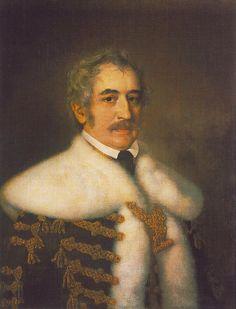 Portrait of József Teleki  by Miklós Barabás