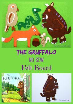 The Gruffalo Kids felt board how-to Gruffalo Activities, Gruffalo Party, The Gruffalo, Classroom Activities, Preschool Literacy, Flannel Board Stories, Felt Board Stories, Felt Stories, Flannel Boards