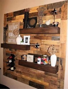 For a common mind pallet wood is simply a wasteful substance whereas for a craftsman, pallet wood is the treasure with which he or she can create anything amazing. What a beautiful wall is created out of pallets, what a marvelous addition will this project bring to your home.  #pallets #woodpallet #palletfurniture #palletproject #palletideas #recycle #recycledpallet #reclaimed #repurposed #reused #restore #upcycle #diy #palletart #pallet #recycling #upcycling #refurnish #recycled #woodwork…