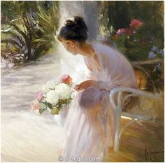 SUNNY SILENCE (2013). Oil on Canvas by Vladimir Volegov. Location: Private Collection.