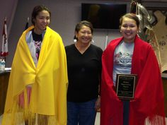 The St. Francis Indian School Board of Education honored two students for their individual achievements in winning the Jack Kent Cook Foundation Young Scholars Award.