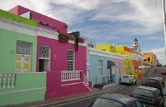 Colorful and bright houses