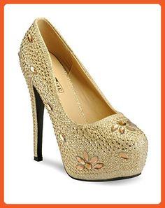 91a6b41394 Yepme Gold Stilettos Pumps (Size - 7) ( EAN : 8907309224996 ) - Pumps for  women (*Amazon Partner-Link)
