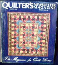 Quilter�s Quilters Newsletter Magazine #170 1985 March
