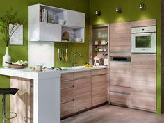 Installer l'électroménager en hauteur pour optimiser la cuisine - Aménager une cuisine dans 6 m2