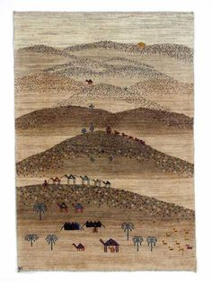 Gabbeh Rugs: Camel Caravan Gabbeh Rug From Zollanvari