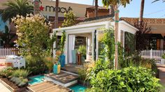 Lush outdoor playhouse