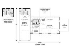Floor Plan with RV Garage Sunset Homes of Arizona Experienced ...