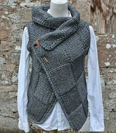 Autumn Winter Casual Basic Daily Turtleneck Plus Size Sleeve Knitted Sweater Vest Plus Size Sweaters, Casual Sweaters, Sweaters For Women, Knit Vest Pattern, Knit Fashion, Crochet Clothes, Types Of Sleeves, Knit Crochet, Pullover