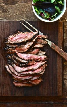hawaiian marinated flank steak : theclevercarrot