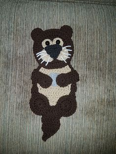 Ravelry: Baby Sea Otter Applique pattern by Amy Styer Crochet Patterns, Crochet Appliques, Crochet Ideas, Baby Sea Otters, Crochet For Kids, Crochet Animals, Embellishments, Crochet Earrings, Ravelry