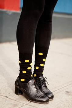 Steven Alan intern Hye Young Hwang, in vintage brogues at NYFW.