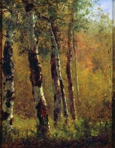 """""""Birch Trees"""" by Thomas Worthington Whittredge"""