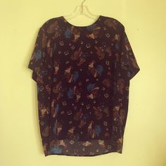 80's rooster blouse