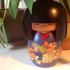Vintage Signed by artist Japanese Kokeshi folk by VintageParamour