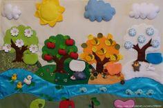 интерьер детской комнаты - времена года - Ольга Николаевна Козина