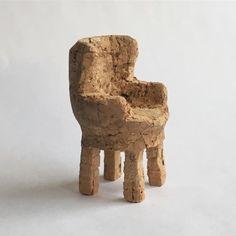 My little #cork #wingback #chair.  #nickmost #art #design #2016 #dwrchampagnechair #contest