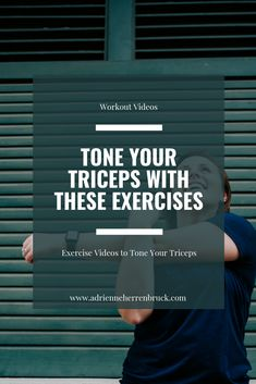 Use these tricep exercises to tone your arms and get rid of back arm flab. These at home exercises will strengthen your arms and tone your triceps. Summer Workout Plan, Month Workout, Workout Schedule, Workout Plans, Triceps Workout, Boxing Workout, Fun Workouts, At Home Workouts, Arm Flab