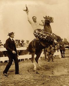 """Great photo of Gene Autry with his horse """"Champion"""""""