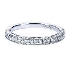 14k White Gold Diamond Fancy Band created by Gabriel & Co.