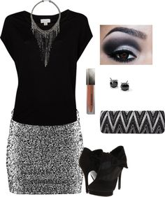 """Night on the Town Outfit"" by maria-garza on Polyvore"