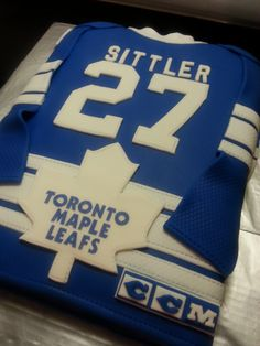 Maple leafs cakes pinterest cake birthdays and hockey cakes sittler jersey toronto maple leafs bookmarktalkfo Images
