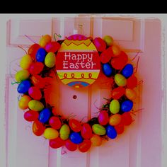 Fun and Easy Easter Wreath that I made!