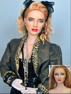 Madonna Barbie by Noel Cruz Lifelike Dolls, Realistic Dolls, 1980s Madonna, Lady Madonna, Madonna Art, Barbie Celebrity, Pin Up, Diva Dolls, Barbie Collector
