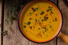 Pikáns édesburgonya-krémleves Recept képpel - Mindmegette.hu - Receptek Thai Red Curry, Sweet Potato, Food And Drink, Favorite Recipes, Ethnic Recipes, Eat