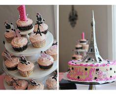 Paris themed 1st birthday