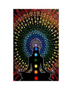 Stone Art Painting, Buddha Painting, Dot Art Painting, Mandala Art Lesson, Mandala Drawing, Spiritual Paintings, Chakra Art, Mandala Rocks, Rainbow Art