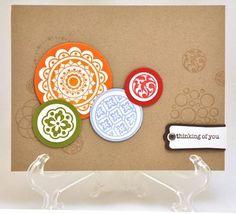 Circle stamp ideas (Stampin Up Demo Blogs 2stampis2b)