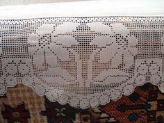 Dantel Örneği Crochet Curtains, Crochet Doilies, Crochet Lace, Lace Making, Diy And Crafts, Knitting, Crochet House, Crochet Projects, Crochet Carpet