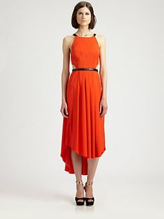 I love the cut-outs and the pockets!  Fashion Star - Midi Dress by Hunter Bell - Saks.com