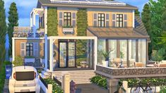 Sims 4 Houses, Tiny Houses, Sims Building, Building A House, Sims 4 Family, Weekend House, Sims Cc, Cozy House, Video Games