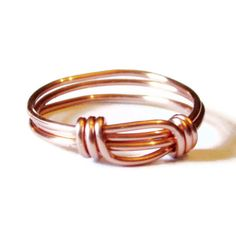Copper Ring , Wire Wrapped Copper Stacking Ring. $10.00, via Etsy.